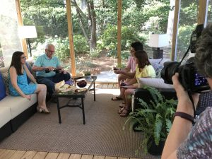 greensboro advertising agency shoots photo for testimonial ad